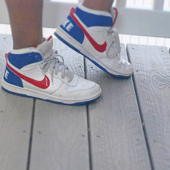 Nike BiG High 2010 Women's Size 9.5 Red White Blue
